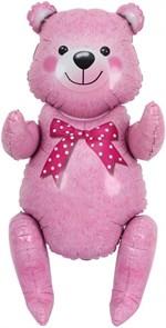 Сидячий мишка (розовый) 81 см