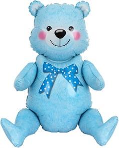 Сидячий мишка (голубой) 81 см