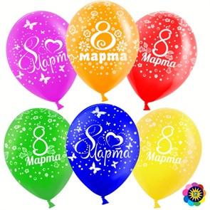 Воздушные шары на 8 марта ассорти