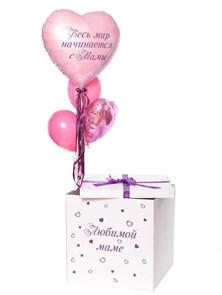 Воздушные шары в коробке-сюрприз