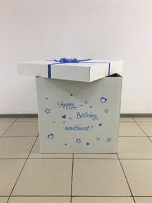 """Коробка для воздушных шаров """"Сюрприз"""" (70х70 см) (без шаров)"""