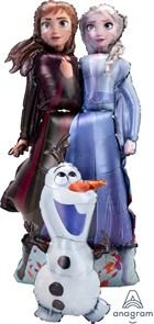 Ходячая фигура Холодное сердце. Принцессы и Олаф (147см)
