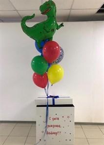 """Воздушные шары в коробке сюрприз """"Эра динозавров"""""""