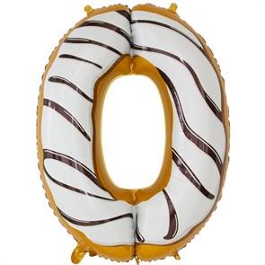 """Воздушный шар цифра """"0"""" пончик"""