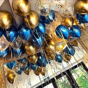 """Воздушные шары под потолок """"золотой блеск"""""""