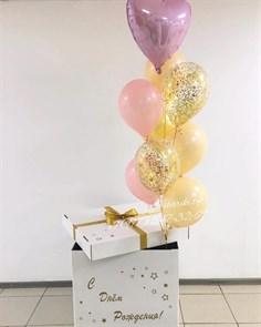 Коробка с воздушными шарами с доставкой (Акция)