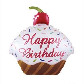 """Воздушный шар кекс """"Happy birthday"""""""