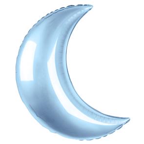 Воздушный шар большой Полумесяц 89см голубой