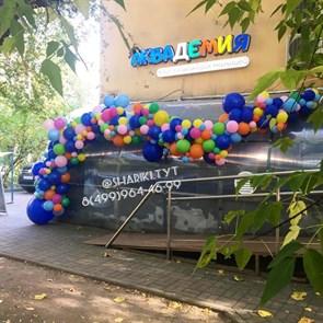Разнокалиберная гирлянда из воздушных шаров ассорти