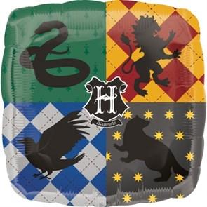 """Фольгированный воздушный шар """"Гарри Поттер, Факультеты Хогвартс»"""
