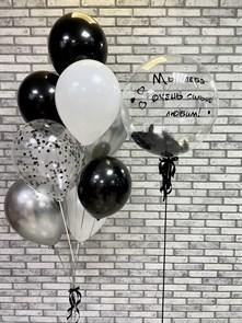 Набор воздушных шаров  «Баблс с перьями»