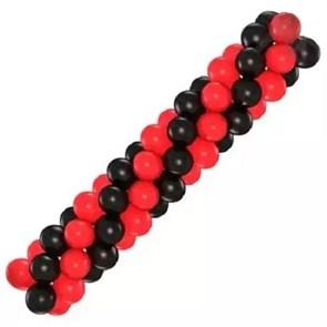 Арка из воздушных шаров (красно-чёрная)