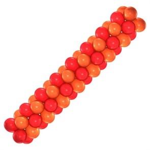Арка из воздушных шаров (оранжево-красная)