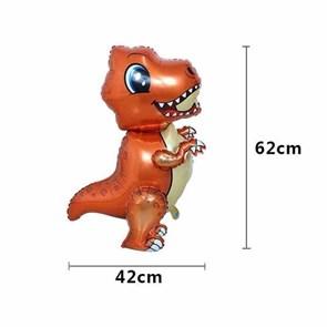 """Воздушный шар """"Маленький динозавр"""" оранжевый  в упаковке"""
