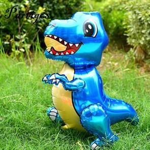 """Ходячая фигура """"Маленький динозавр"""" синий  в упаковке"""