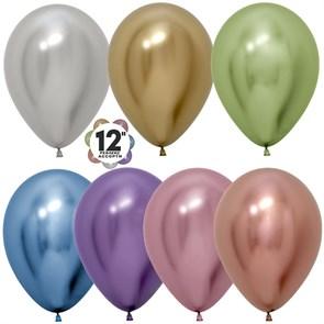 Воздушный шарик 30 см Хром (ассорти)