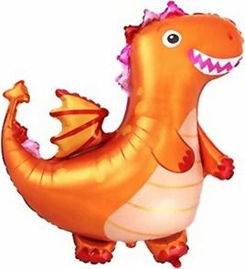 """Воздушный шар фигура """"Дракон"""", оранжевый"""