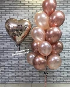Сет из воздушный шаров  « Розовое золото»