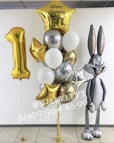Композиция из воздушный шаров  «Большой зайка»