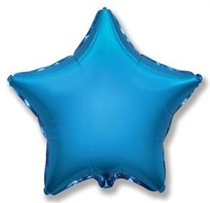 """Воздушный фольгированный шар гигант """"Звезда"""" Синий"""