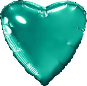 """Воздушный шар большое сердце """"Бирюзовый"""""""