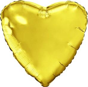 """Воздушный шар большое сердце """"Золото"""""""
