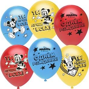 """Воздушные шарики на день рождения """"Микки Маус"""""""