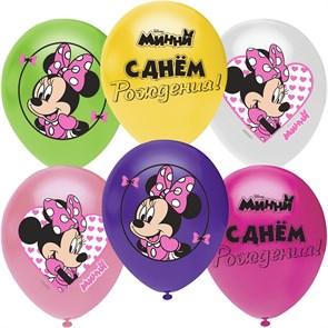 """Воздушные шарики на день рождения """"Минни Маус"""""""
