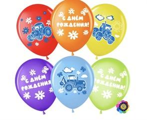 """Воздушные шарики на день рождения """"Синий трактор»"""