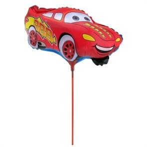 """Мини шар на палочке """"Тачки"""" красная машина"""