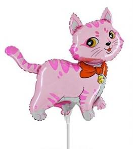 """""""Розовый котик"""" шарик на палочке"""