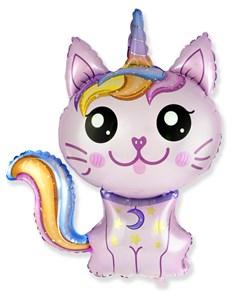 "Мини-фигура на палочке ""Котенок единорог"", розовый."