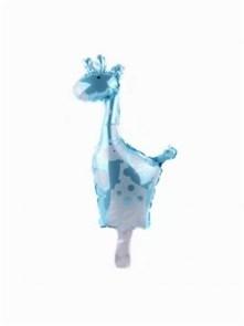 "Мини-фигура на палочке на выписку ""синий жираф"""