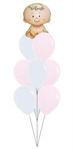 Набор шаров на выписку из роддома. Девочка