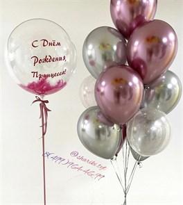 Набор воздушных шаров с прозрачным шаром