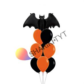 Фонтан из шаров на Хэллоуин «Летучая мышь»