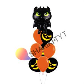 Набор воздушных шаров «Чёрный дракон» на Хэллоуин