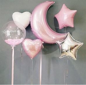 Сет из воздушных шаров с индивидуальной надписью
