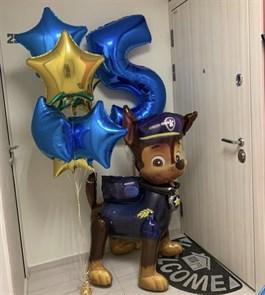 """Набор воздушных шаров на день рождения """"Большой щенок"""""""