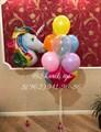 """Фонтан из воздушных шариков с единорогом """"Радуга"""" - фото 4554"""