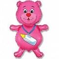 """Воздушный шар Фигура """"Медвежонок"""" Розовый. - фото 4582"""