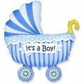 """Воздушный шар на выписку """"Коляска"""" мальчик. - фото 4611"""