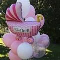 """Воздушный шар на выписку """"коляска"""" девочка. - фото 4614"""