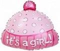"""Воздушный шар на выписку из роддома """"Шапочка для девочки"""" 48 см - фото 4780"""