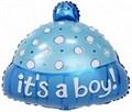 """Воздушный шар на выписку из роддома """"Шапочка для мальчика"""" 48 см - фото 4782"""