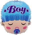 """Воздушный шар фигура новорожденный """"Мальчик с соской"""" - фото 4885"""