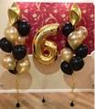 """Готовый набор воздушных шаров """"Золото"""" - фото 5058"""