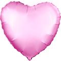 """Фольгированный воздушный шар сердце 46 см """"Розовый"""" - фото 5062"""