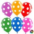 """Латексный воздушный шар 30 см в горошек """"ассорти"""" - фото 5110"""