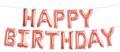 """Гирлянда из фольгированных букв """"Happy Birthday"""" розовое золото - фото 5237"""